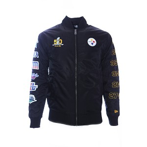 info for 7e994 1ffe7 GIUBBOTTO NEW ERA SB50 BOMBER JKT PITTSBURGH STEELERS ...