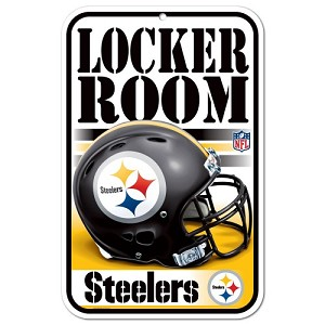 PANNELLO PLASTICA WINCRAFT LOCKER ROOM 27 X 42 CM  PITTSBURGH STEELERS
