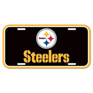 PANNELLO PLASTICA WINCRAFT LICENSE PLATE 15 X 30 CM  PITTSBURGH STEELERS