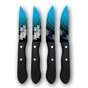 SET COLTELLI NOVELTY 990001 STEAK KNIFES 4 PCS  CAROLINA PANTHERS