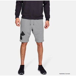 PANTALONE UNDER ARMOUR 1329747 RIVAL LOGO  GRIGIO