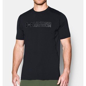 TSHIRT UNDER ARMOUR 1292648 FITTED GRAPHOIC  NERO