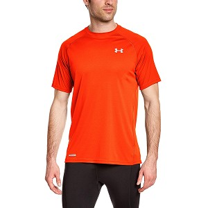 TSHIRT UNDER ARMOUR 1244172 FITTED  ARANCIONE