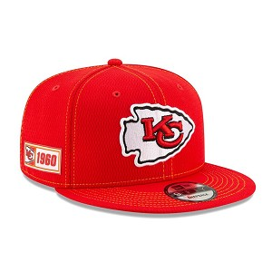 CAPPELLO NEW ERA 9FIFTY 2019 SIDELINE ROAD  KANSAS CITY CHIEFS