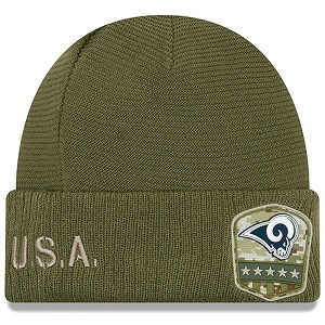 CAPPELLO NEW ERA SALUTE TO SERVICE KNIT 2019  LOS ANGELES RAMS