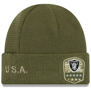 CAPPELLO NEW ERA SALUTE TO SERVICE KNIT 2019  OAKLAND RAIDERS