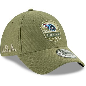 CAPPELLO NEW ERA 39THIRTY SALUTE TO SERVICE 2019  TENNESSEE TITANS