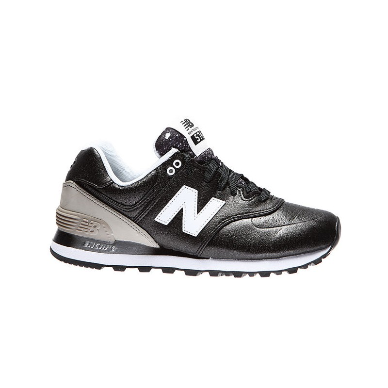SCARPA NEW BALANCE WL574RAA DONNA SYNTHETIC LEATHER NERO