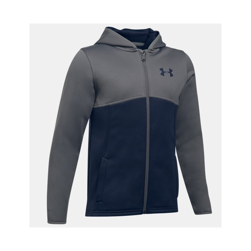 Felpa Under Armour 1299347 Kids Full Zip Blu Ragazzo Under
