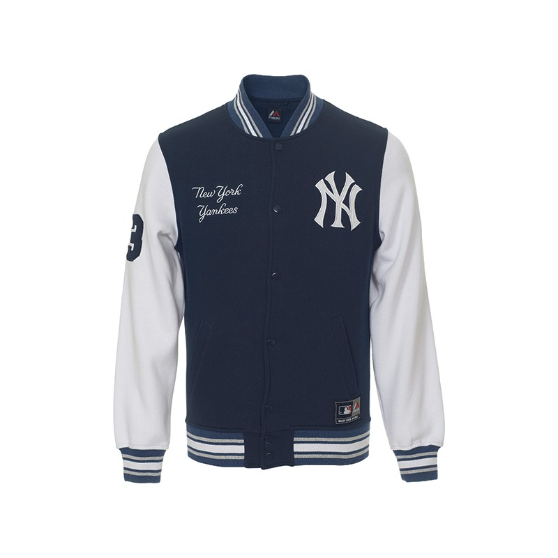 Felpa Majestic Mny1354nl New York Yankees Blu Felpe