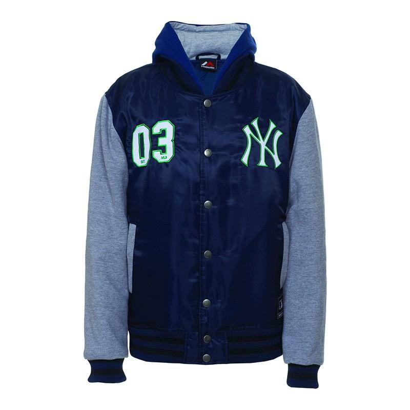 Giubbotto Majestic Mny1285 Mix Fabric New York Yankees Blu