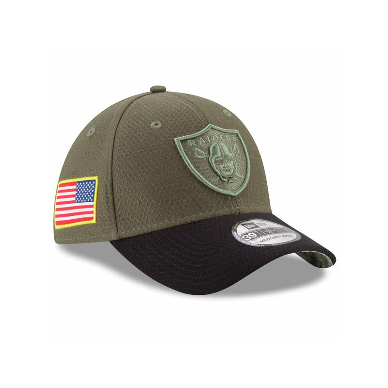 CAPPELLO NEW ERA 39THIRTY SALUTE TO SERVICE OAKLAND RAIDERS 39THIRTY ... 3ab656592561