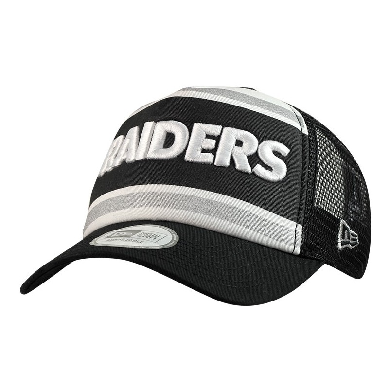CAPPELLO NEW ERA TRUCKER WORD OAKLAND RAIDERS TRUCKER FOOTBALL NFL ... c1caad588447