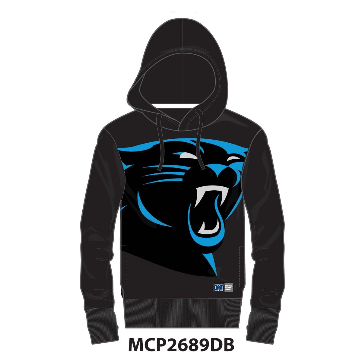 Felpa Majestic Mny2689 Bater Loopback Carolina Panthers