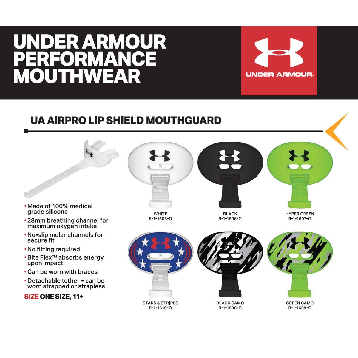 Under Armour Airpro Lip Shield Mouthguard