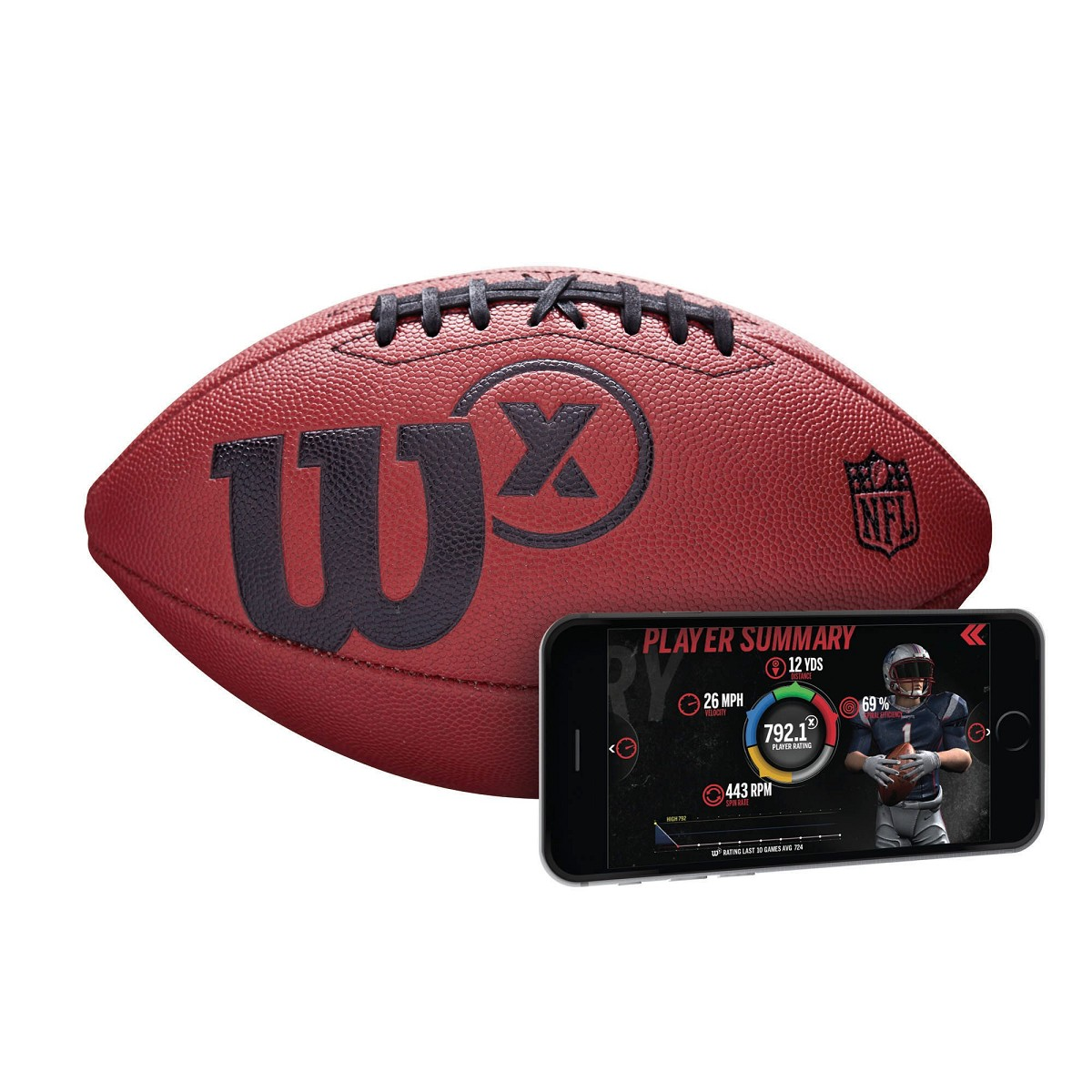 Pallone Wilson Wtf3000id X Connected Ufficiale Cuoio