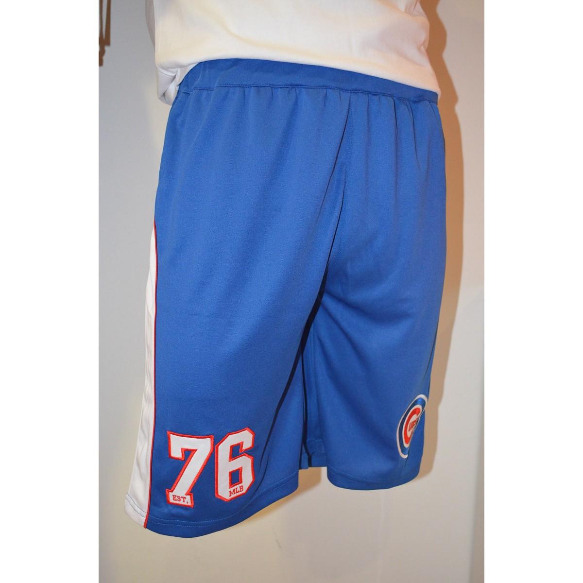 Pantalone Majestic Ellison Short Chicago Cubs Blu