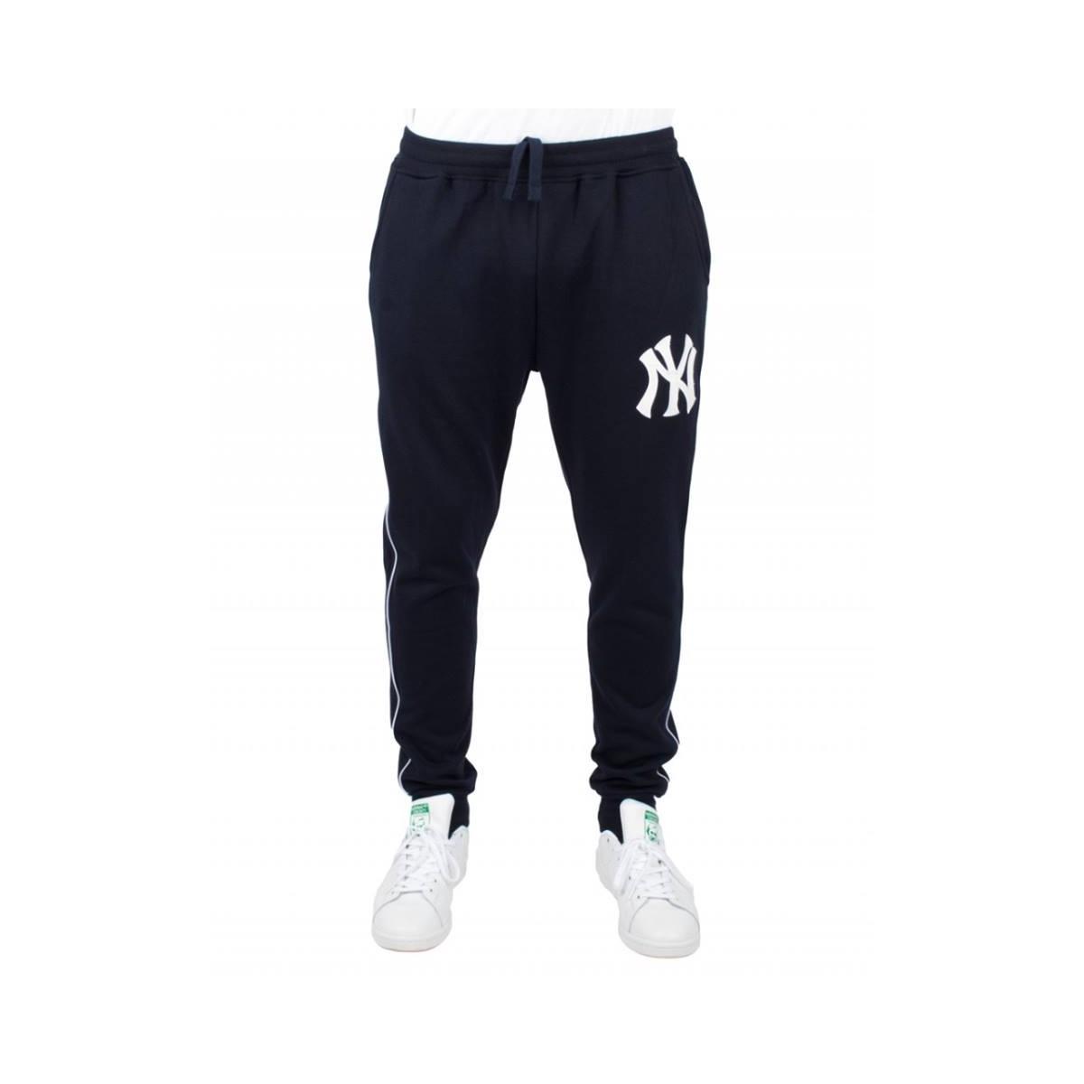 Yankees Mny3781 New Pantaloni Majestic York Blu Baseball Pantalone XOukZiTPw