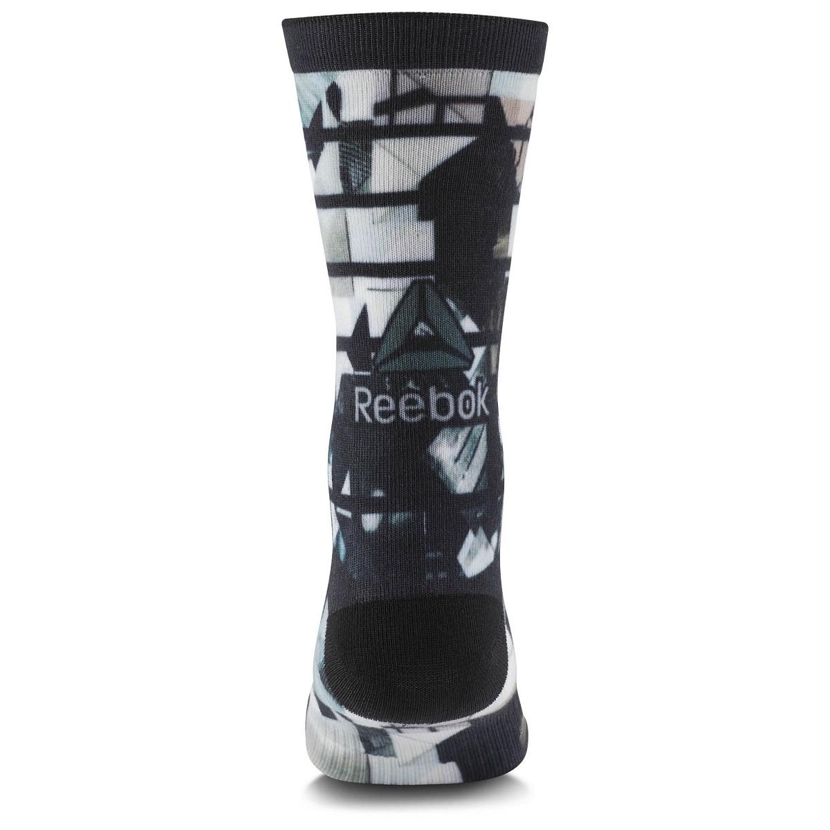 Calza Reebok Crossfit Cd1292 Printed Unisex Crew Nero
