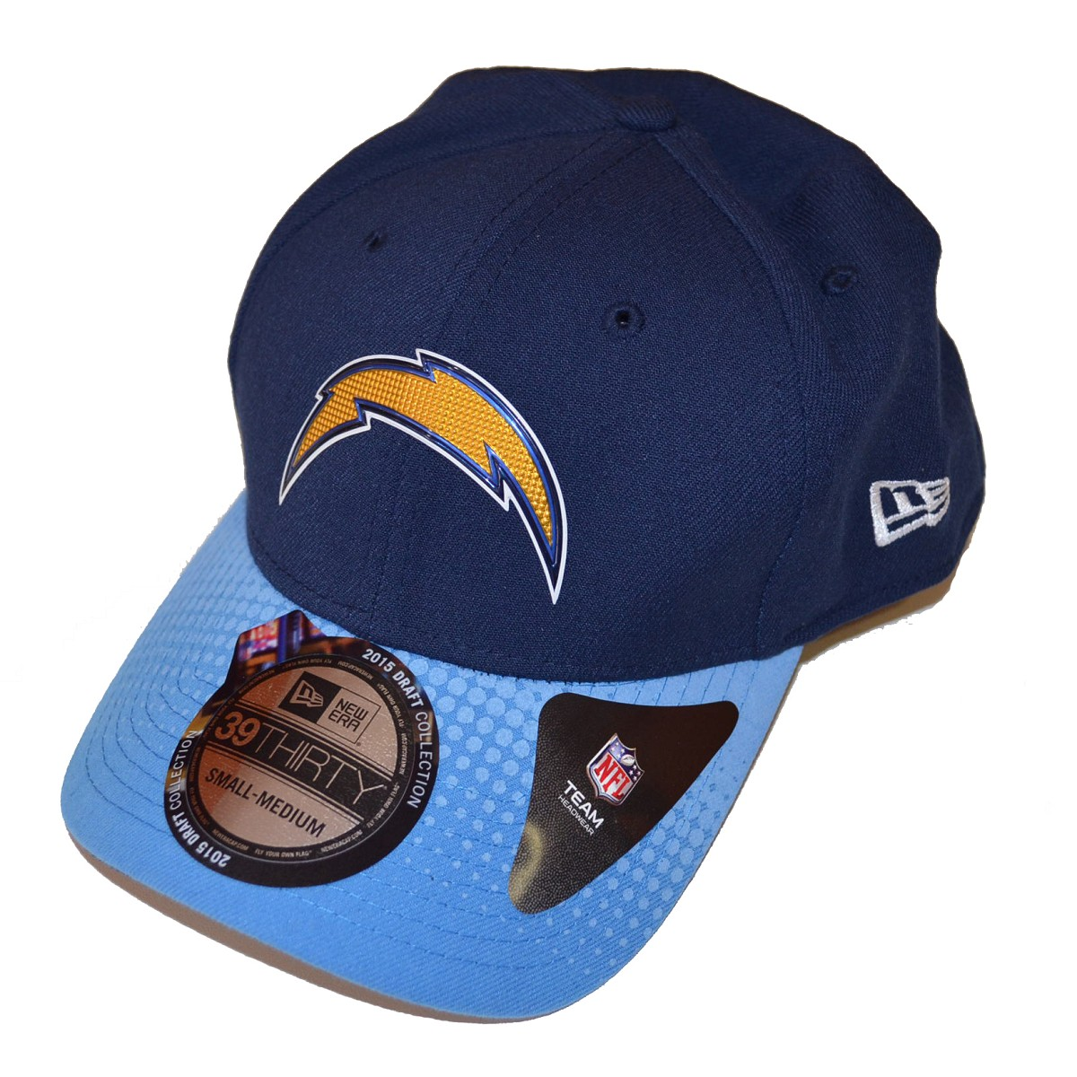 San Diego Chargers Fleece Fabric: CAPPELLO NEW ERA 39THIRTY DRAFT 15 SAN DIEGO CHARGERS