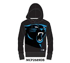 FELPA MAJESTIC MNY2689 BATER LOOPBACK  CAROLINA PANTHERS