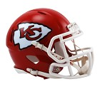 MINI HELMET RIDDELL REVO SPEED  KANSAS CITY CHIEFS