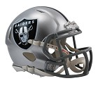 MINI HELMET RIDDELL REVO SPEED  OAKLAND RAIDERS