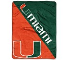 COPERTA NORTHWEST VARSITY BLANKET NCAA  UNIV.OF MIAMI