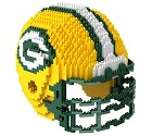 PUZZLE FOREVER 3D BRXLZ NFL TEAM HELMET  GREEN BAY PACKERS