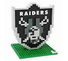 PUZZLE FOREVER 3D BRXLZ NFL TEAM LOGO  OAKLAND RAIDERS