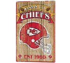 PANNELLO LEGNO WINCRAFT ESTABLISHED 38 X 61 CM KANSAS CITY CHIEFS