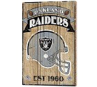 PANNELLO LEGNO WINCRAFT ESTABLISHED 38 X 61 CM OAKLAND RAIDERS