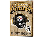 PANNELLO LEGNO WINCRAFT ESTABLISHED 38 X 61 CM PITTSBURGH STEELERS
