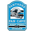 PANNELLO LEGNO WINCRAFT FAN CAVE 28 X 43 CM  CAROLINA PANTHERS