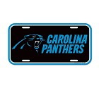 PANNELLO PLASTICA WINCRAFT LICENSE PLATE 15 X 30 CM  CAROLINA PANTHERS