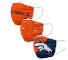 MASCHERINA FOCO 3 PACK ADULTO DENVER BRONCOS