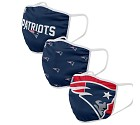 MASCHERINA FOCO 3 PACK ADULTO  NEW ENGLAND PATRIOTS