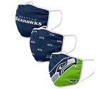 MASCHERINA FOCO 3 PACK ADULTO  SEATTLE SEAHAWKS