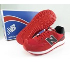 SCARPA NEW BALANCE ML574CND CLASSIC SUEDE/MESH  ROSSO