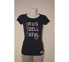 MAGLIA RUSSELL DEEP NECK EMBROIDERY WOM  BLU NAVY