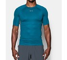 MAGLIA UNDER ARMOUR HG PRINTED COMPRESSION SS 1257477  BLU 0953