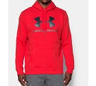 FELPA UNDER ARMOUR 1302294 RIVAL FITTED GRAPHIC  ROSSO
