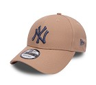 CAPPELLO NEW ERA 9FORTY MLB LEAGUE  BEIGE