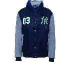 GIUBBOTTO MAJESTIC MNY1285 MIX FABRIC NEW YORK YANKEES  BLU NAVY