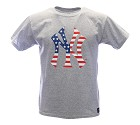 TSHIRT MAJESTIC MNY1917E2 NEW YORK YANKEES  GRIGIO