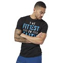 TSHIRT REEBOK CROSSFIT DN2392 FITTEST ON EARTH  NERO