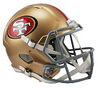CASCO RIDDELL REVO SPEED REPLICA  SAN FRANCISCO 49ERS