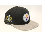 CAPPELLO NEW ERA 9FIFTY SB50 TEAM SUEDE   PITTSBURGH STEELERS