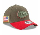 CAPPELLO NEW ERA 39THIRTY SALUTE TO SERVICE  KANSAS CITY CHIEFS