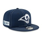 CAPPELLO NEW ERA 9FIFTY 2019 SIDELINE ROAD  LOS ANGELES RAMS